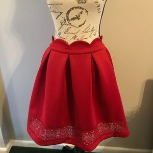 NWT | Francesca's | red skirt | Large